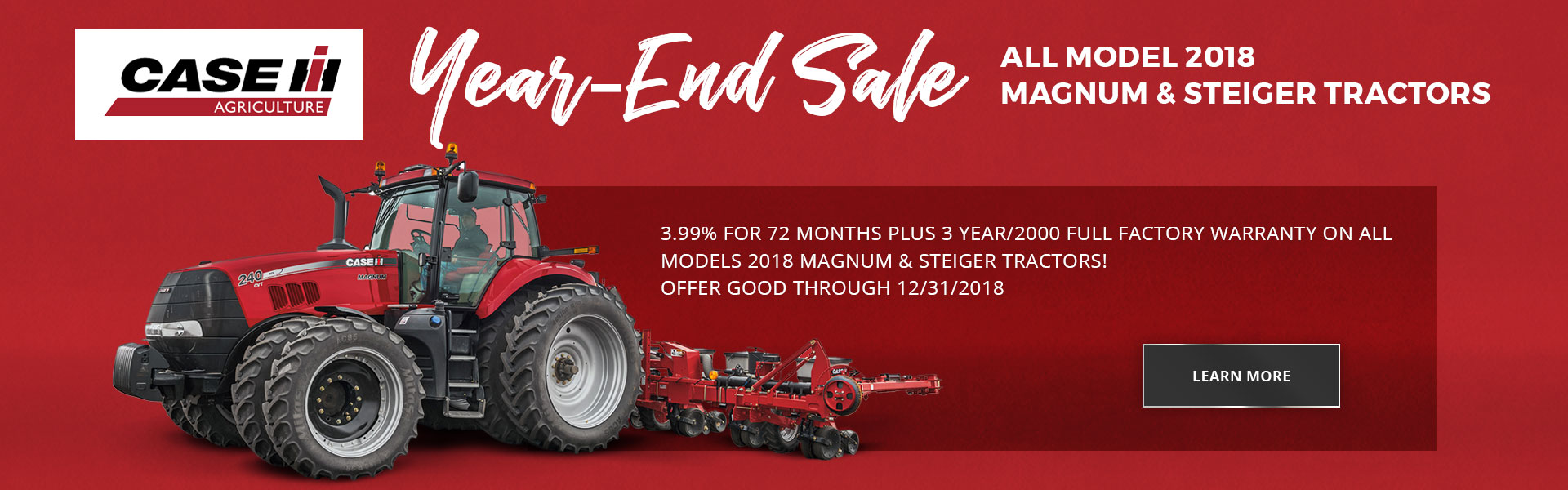 Case Year end sale
